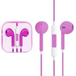 EarPods met Wired controle en Mic  voor iPhone  iPad  iPod  Galaxy  Huawei  Xiaomi  Google  HTC  LG en andere Smartphones(Magenta)