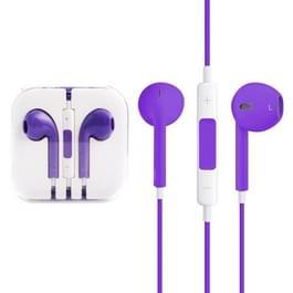 EarPods met Wired controle en Mic  voor iPhone  iPad  iPod  Galaxy  Huawei  Xiaomi  Google  HTC  LG en andere Smartphones(Purple)