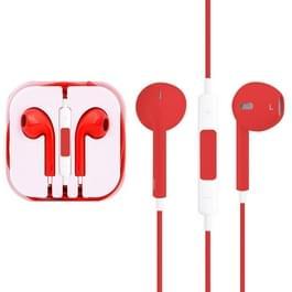 EarPods met Wired controle en Mic  voor iPhone  iPad  iPod  Galaxy  Huawei  Xiaomi  Google  HTC  LG en andere Smartphones(Red)