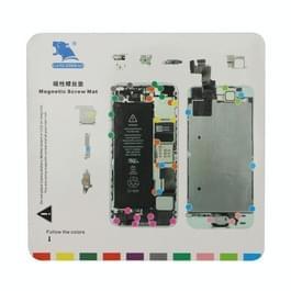 Magnetische schroeven Mat voor iPhone 5S  grootte: 20 cm x 19cm(White)