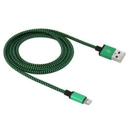 1m huidige 2A geweven stijl USB synchronisatiegegevens kan doorgeven / Charging Cable  voor iPhone X / iPhone 8 & 8 Plus / iPhone 7 & 7 Plus / iPhone 6 & 6s & 6 & 6s Plus / iPad(Green)