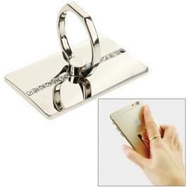 VENICEN draaibare Diamond Encrusted metaal ringhouder  voor iPhone  Galaxy  Huawei  Xiaomi  LG  HTC en andere slimme phones(Silver)