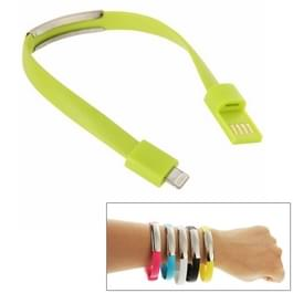 Wearable Bracelet Sync Data Charging Cable   For iPhone 6 & iPhone 5S & iPhone 5C &iPhone 5  Length: 24cm(Green)