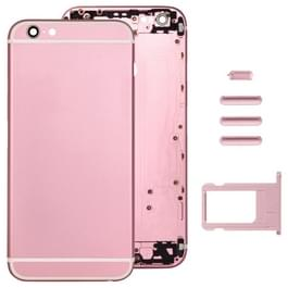 Volledige vergadering huisvesting Cover voor iPhone 6 Plus  met inbegrip van terug dekken & kaart lade & Volume Control toets & Power knop & Mute Switch Vibrator Key(Pink)
