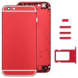 Volledige vergadering huisvesting Cover voor iPhone 6 Plus  met inbegrip van terug dekken & kaart lade & Volume Control toets & Power knop & Mute Switch Vibrator Key(Red)