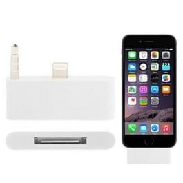 8 Pin naar 30 Pin Audio Adapter met 3.5mm plug voor iPhone 6 Plus & iPhone 6S Plus (wit) (LET OP AUB: VOOR DE PLUS!)