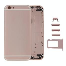 6 in 1 voor iPhone 6 Plus (backcover + kaarthouder Volume Control-toets + Power knop + Mute Switch Vibrator-toets + teken) dekken de volledige vergadering huisvesting
