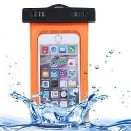 For iPhone 6 Plus & 6s Plus Waterproof Carrying Case with Touch Responsive Front & Lanyard(Orange)