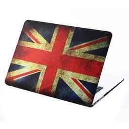 MacBook Air 13.3 inch Retro UK Vlag patroon hard Kunststof Hoesje / Case