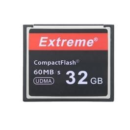 32 GB Extreme compacte flitskaart  400 X leessnelheid  maximaal 60 MB/S (100% echte capaciteit)