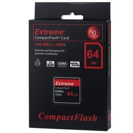 64 GB Extreme compacte flitskaart  400 X leessnelheid  maximaal 60 MB/S (100% echte capaciteit)
