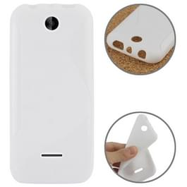 S Line Anti-slip Frosted TPU hoesje voor Nokia 225 wit