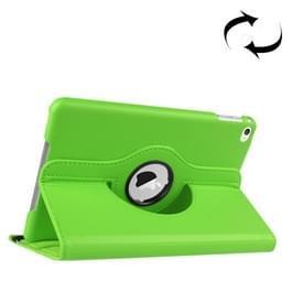 iPad Mini 4 horizontaal Litchi structuur PU leren Flip Hoesje met 360 graden draaiende houder (groen)