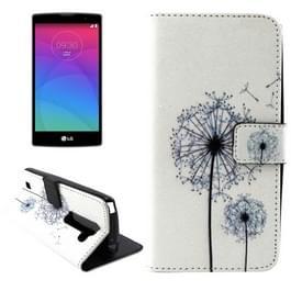 Dandelion patroon Horizental Flip lederen hoesje met houder & opbergruimte voor pinpassen & portemonnee voor LG Magna / H502