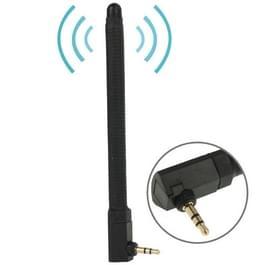 Hoge kwaliteit 6dBi 3.5mm verplaatsbare FM & TV Antenne (zwart)