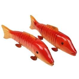 Schattige mobiliseerbare Houten Kiss Fish Toy Decoratie  (2 stuks in een verpakking, de prijs is voor 2 stuks)  SALE SALE!! LAATSTE EXEMPLAREN!!