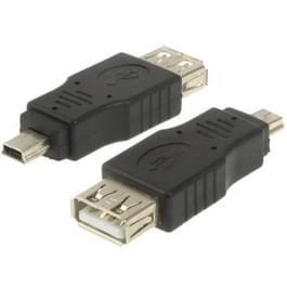 USB 2.0 vrouwtje naar Mini USB 5Pin mannetje Adapter (OTG functie)