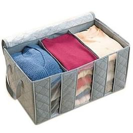 65L 3-laags bamboe houtskool Buggy Bag opbergtas met rits voor Clothes(Grey)