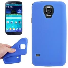Anti-kras Silicon hoesje voor Samsung Galaxy S V / S5 / G900  (blauw)