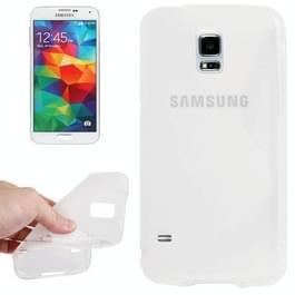 Samsung Galaxy S5 / G900 anti-slip S-vormig beschermend TPU back cover Hoesje (transparant)