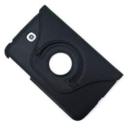 360 graden draaibaar Lichi structuur lederen hoesje met houder voor Samsung Galaxy Tab 3 (7.0) / P3200 / P3210(zwart)