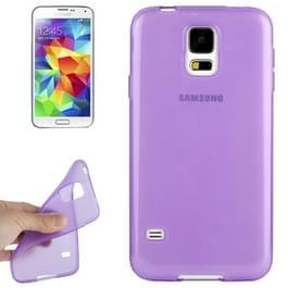 Gladde TPU hoesje voor Samsung Galaxy S5 / G900(paars)