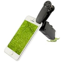 60-100 X Zoom mobiele telefoon Microscoop met universeel Clip(zwart) Smile