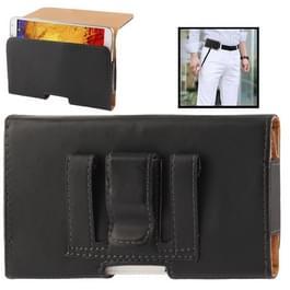 wallet style lederen hoesje met riemclip voor samsung galaxy note iii / n9000 / n7100  (zwart)