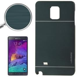 2 in 1 textuur geborsteld metalen & Plastic beschermhoes voor Galaxy Note 4 / N910 (diepgroene)
