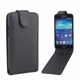 Samsung Galaxy Core LTE vertikaal PU leren Flip Hoesje met magnetische sluiting (zwart)
