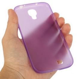Samsung Galaxy S IV / i9500 0.3mm ultra dun Polycarbonate materiaal beschermende Shell Cover (paars)