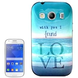 With You I Found LOVE patroon Plastic Frame TPU Back Cover beschermings hoesje voor Samsung Galaxy Ace Style LTE / G357FZ