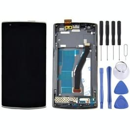 LCD-scherm + aanrakingspaneel met Frame vervanging voor OnePlus One(Black)