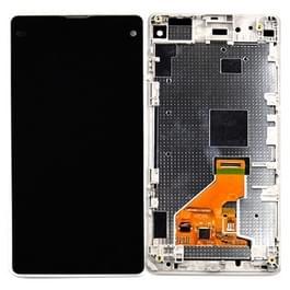 LCD-scherm + aanrakingspaneel met Frame vervanger voor Sony Xperia Z1 Compact(White)