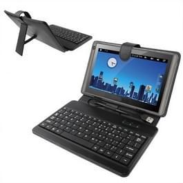 Universeel 8 inch Tablet PC PU leren Hoesje met kunststof USB toetsenbord (zwart)