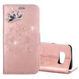 Voor Galaxy S8 Mandragora patroon diamant ingelegde horizontale Flip lederen draagtas met kaartslot & houder & portemonnee & Lanyard (Rose goud)