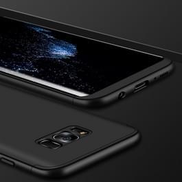 GKK voor Galaxy S8 + / G9550 drie PC - lid Shield 360 graden volledige dekking beschermende geval terug Cover(Black)