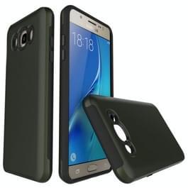 Voor Galaxy J5(2016) / J510 Simple geborsteld textuur 2 in 1 PC + TPU combinatie beschermende Case (leger groen)