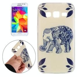 Voor Galaxy Core Prime / G360 olifant patroon beschermhoes TPU