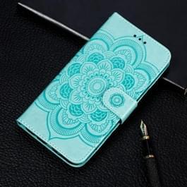 Mandala reliëf patroon horizontale Flip lederen case voor Galaxy S10  met houder & kaartsleuven & portemonnee & fotolijstjes (groen)