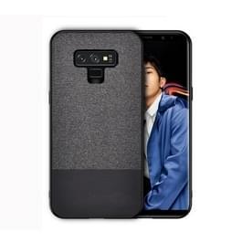 Schokbestendige splicing PU + doek beschermhoes voor Galaxy Note 9 (zwart)