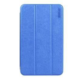 Samsung Galaxy Tab A 7.0 (2016) / T280 Zijde structuur PU leren Flip Hoesje met drievouws houder (donker blauw)