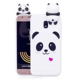 Voor Galaxy J3 (2017) / J330 (EU versie) Panda patroon TPU Case Back beschermhoes met 3D Panda pop
