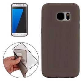 Samsung Galaxy S7 / G930 horizontaal TPU Flip Hoesje met transparant kunststof Touch cover (grijs)