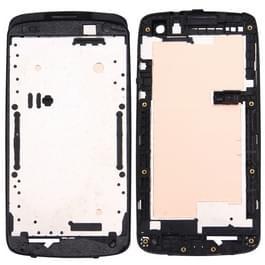 Voorste behuizing LCD Frame Bezel plaat voor HTC Desire 500(Black)