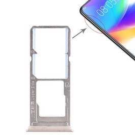 2 x SIM kaarthouder + Micro SD Card lade voor Vivo Y85(Gold)