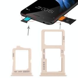 2 x SIM kaarthouder + Micro SD Card lade voor Vivo Y66(Gold)