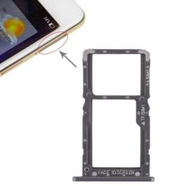 SIM-kaarthouder + SIM-kaarthouder / Micro SD-kaart lade voor Xiaomi Pocophone F1 (zwart)