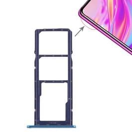 2 x SIM kaarthouder / Micro SD-kaart lade voor Huawei genieten van 9 (blauw)