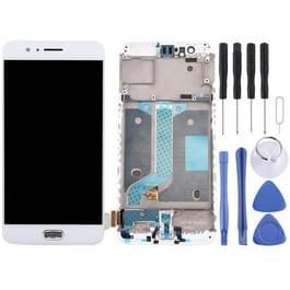 OnePlus 5 LCD-scherm en Digitizer met Frame(White)